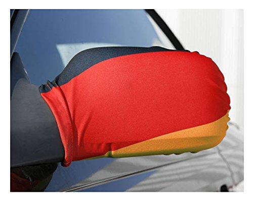 Trendfinding 25 x 2er Set Überzug Verkleidung für Auto Außenspiegel Autospiegelfahne Fußball Deutschland WM 2018 Autofahne Autokorso Fahne Flagge Bikini