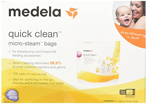Discover Bargain Medela Quick Clean Micro-Steam Bags, 2 Packs of 5 bags