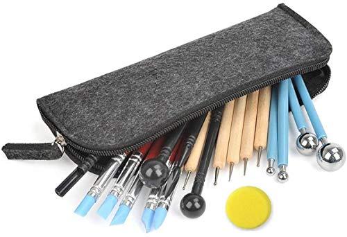 Hossom 24 piezas Herramientas de Modelado, Polymer Clay Herramientas de Arcilla, Herramientas de Cerámica para Artesanías de Arcilla, Cerámica, y Manualidades de Vacaciones y Arte Uñas