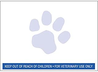 24 Rolls RJS Brand Veterinary Prescription Labels with Blue Paw Print & Warning - 400 per roll - Compatible with 30258