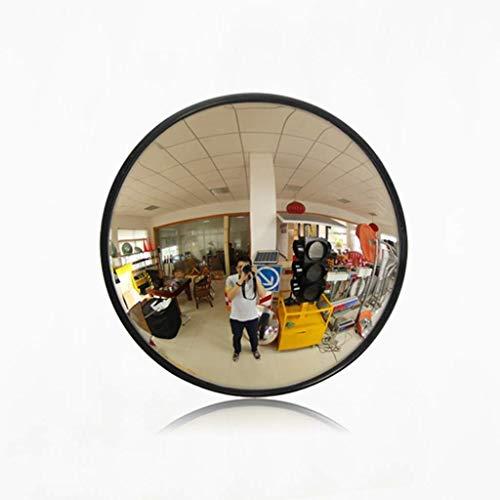 HQY Outdoor Traffic Breedhoeklenzen, Beveiligingsspiegel Rond Binnen Supermarkt Anti-Diefspiegel, Blinde Spot Spiegels Road Verkeerssignaal Convex Grote Ronde Spiegel 80cm