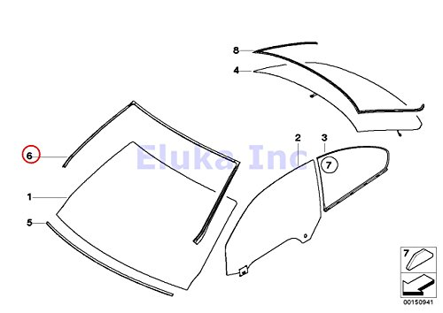 Price comparison product image BMW Genuine Exterior Trim Grill Seals Windshield Moulding Front Upper 328i 328xi 335i 335xi M3 328i 328xi 335i 335is 335xi M3