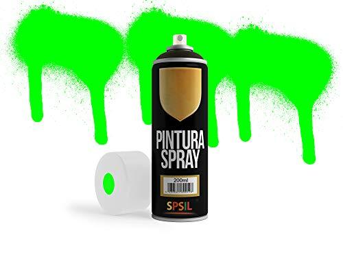 MovilCom® - Pintura en spray Fluorescente Verde Flúor, 200ml, mod.8694
