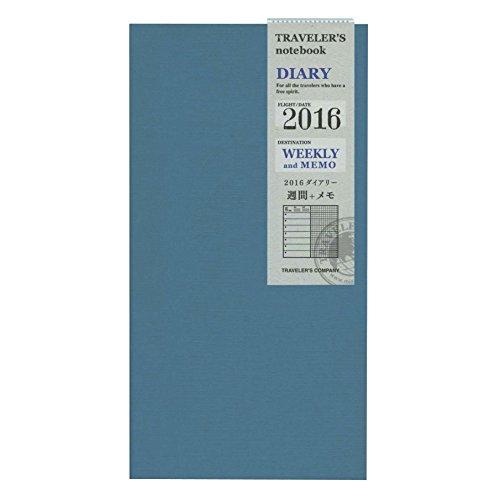 『トラベラーズノート 2016年 手帳 リフィル ウィークリー A5スリム 14360006』のトップ画像