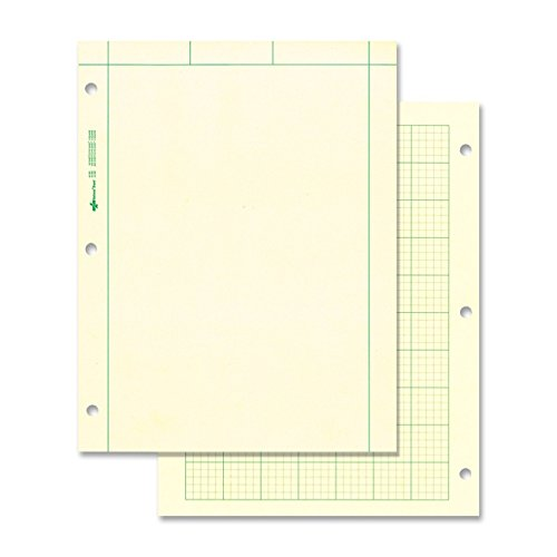 NATIONAL Brand Computation Pad, Plain on Front Side / 5 X 5 Quad on Back Side, Green Paper, 8.5 x 11' 200 Sheets (42389)