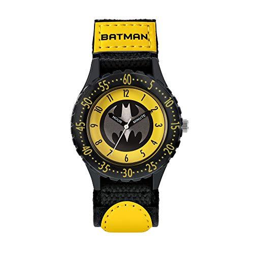 BATMAN Jungen Analog Quartz Uhr mit Canvas Armband BAT5244ARG