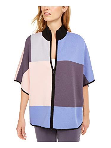 Anne Klein Damen Kimono-Ärmel, Kragen, Größe XL, Grau