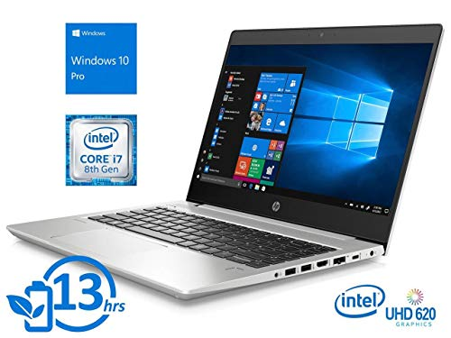 "2019 HP ProBook 440 G6 14"" FHD Full HD (1920x1080) Business Laptop (Intel Quad-Core i7-8565U, 16GB DDR4 RAM, 512GB M.2 SSD) Backlit, Type-C, RJ45, HDMI, Windows 10 Pro Professional"