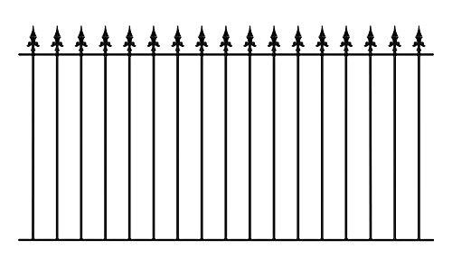 Saxon Spear Top Garden Fencing Panel 1830mm (6ft) GAP x 950mm High Galvanised wrought iron metal fence railing SAZP01
