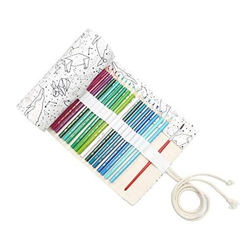 Leinwand Stifterolle Pencil Wrap Roll up Holder Tasche Federmappe(72 Loch)