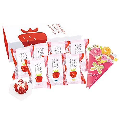 母の日ギフト 博多あまおう 花いちごのアイス M-A-D7 練乳 ×3 イチゴ マンゴー ×各2 アイス 洋菓子