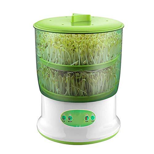 Yusea Seed Sprouter, dispositivo de germinación automática, una máquina de semillas de soja, multiusos, 2 o 3 capas, riego automático de grandes granos, máquina hidropónica, enchufe europeo