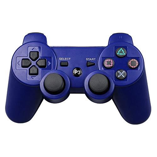 CMDZSW Se Utiliza for el Gamepad PS3 Mando inalámbrico Bluetooth Joystick Utilizado for la manija Playstation 3 Consola de Juegos inalámbrica Accesorios del Juego de Consola (Color : Blue)