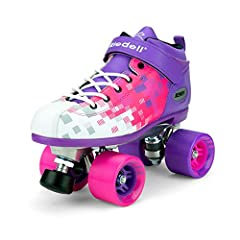 HIGH-QUALITY ULTRA DURABLE ROLLER SKATES - These quad roller skates are man-made using a vinyl material that creates a breathable, durable skate boot. The skates have a high impact die cast aluminum plate with strong metal trucks for optimal support....