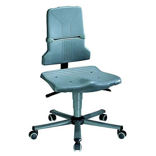 bimos Arbeitsdrehstuhl – SINTEC - Kunststoff, Standard-Ausführung - Fünffuß-Stahlrohrgestell mit Rollen - Arbeitsdrehstuhl Arbeitsdrehstühle Arbeitsstuhl Arbeitsstühle Drehstuhl Drehstühle ESD-Arbeitsstuhl ESD-Arbeitsstühle Universalstuhl