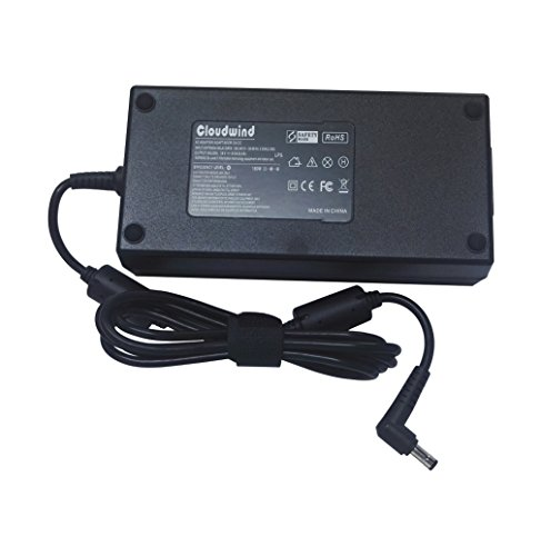Cloudwind 19V 9.5A 180W Adaptador de CA de Repuesto para ASUS-Gaming-Laptop G55 G55VW G53SX G46VW G70 G71 G72 G72GX G73 G73JH G73 G73SW G74 G74S G74SX G75.Cargador Adaptador de CA para portátil