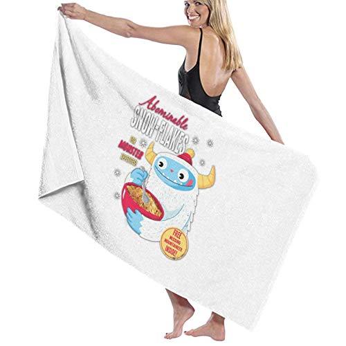 U/K Abominable Snow Flakes - Toalla de baño para apetitos de monstruo toalla de secado rápido