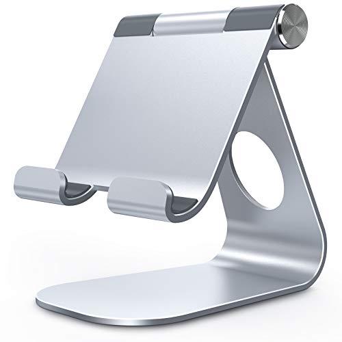 タブレット スタンド アルミ ホルダー 角度調整可能, Lomicall stand : 卓上縦置きスタンド, タブレット置き台, デスク台, 立てる, 設置, aluminium, テレワーク, 在宅 ワーク, Zoom 会議, タブレット対応(4~13''), ミニ エア プロ12.9インチ, 2020 mini, Air 1 2 3 4 air4 第四世代, Pro 9.7 10.2 10.5 10.9 11 12.9 インチ, S7 S8 Note 6