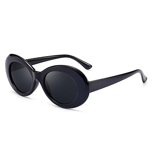 Grunge Oval Shades 【Black/Smoke】 Kurt model/グランジ オーバル サングラス [並行輸入品]