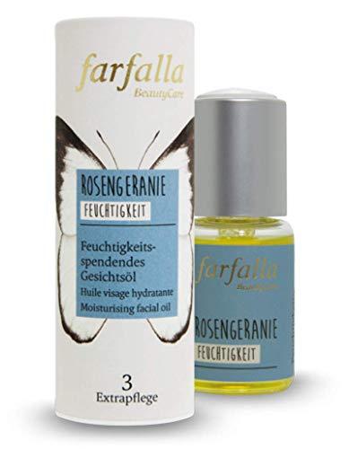farfalla Rosengeranie, Feuchtigkeitsspendendes Gesichtsöl, Feuchtigkeit, 20 ml