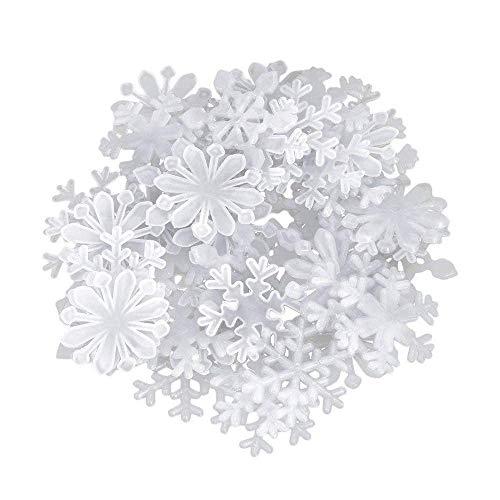 BANNAB 50 Pegatinas de Pared de Copo de Nieve Fluorescentes Que Brillan en la Oscuridad del Dormitorio de los niños Hermosos (Blanco)