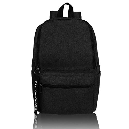Casual Daypacks OMOUBOI Superbreak Backpack Laptop Backpack for Women & Men Fits Tourism School Business (Black)