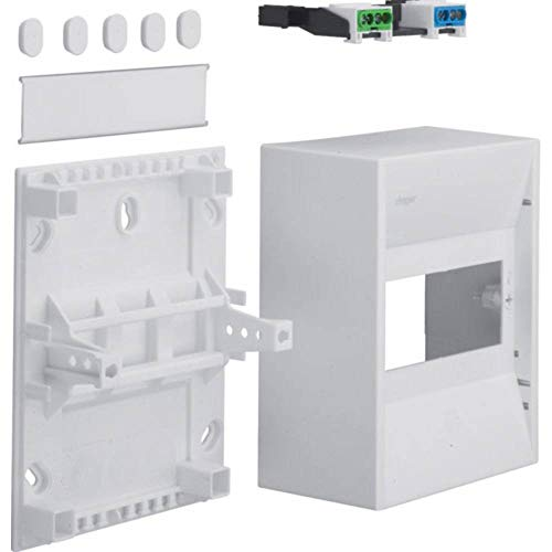 Hager GD106N Miniverteiler 180x146x82mm IP30 6 PLE bis 63A m.Klemmen AP-Montage