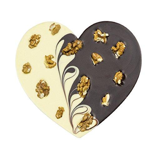 ChocoHerz Duett mit Walnüssen - Schokoladenherz | Schoko Herz | Geschenkidee | Geschenk | Valentinstag | Frauen | Frau | Liebesgeschenk | Liebesgeschenke | Muttertag | Geburtstag | Freundin