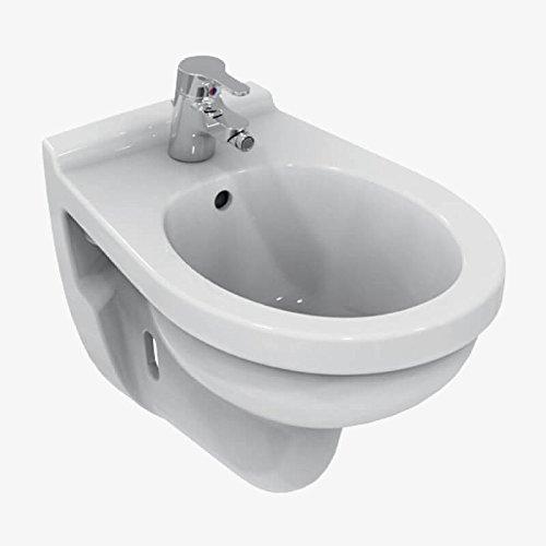 Ceramica Dolomite E886101 QUARZO Bidet sospeso monoforo - Bianco