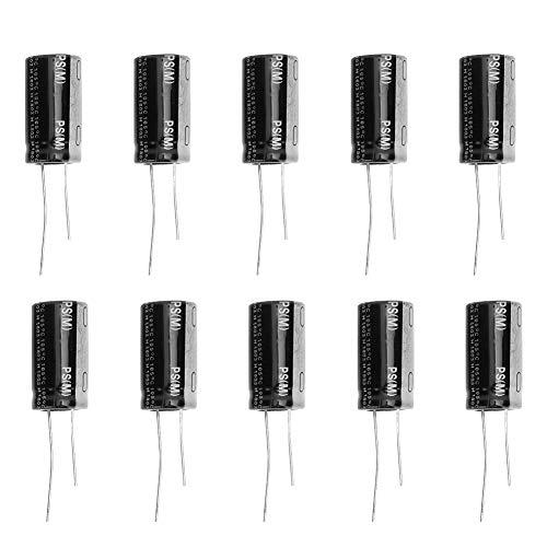 Condensador electrolítico - 10 Piezas Negro 35V 4700μF Condensador electrolítico de Aluminio Terminal estándar 18 x 30 mm