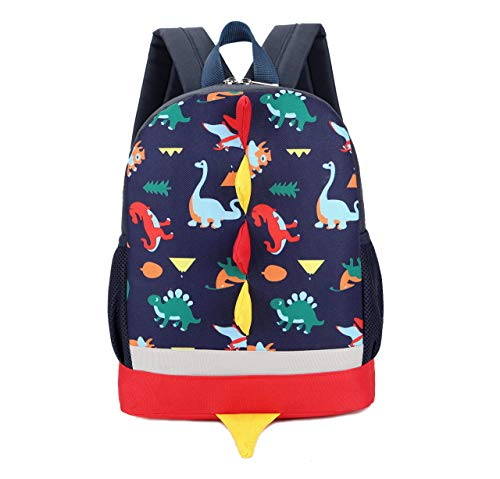 Kids Toddlers Dinosaur Backpack Children Dragon Backpack Rucksack School Bag for Boys Girls (Dark Blue)