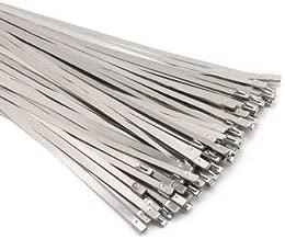 Metal Zip Ties 12 inch Stainless Steel Zip Cable Ties 90pcs Exhaust Wrap Multi-Purpose Self Locking Cable Metal Zip Ties