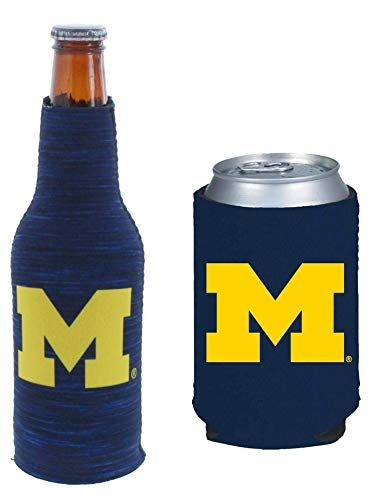 Set of 2 (Michigan) Wolverines CAN & Bottle Cooler