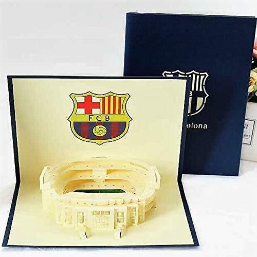 BC Worldwide Ltd 3D Pop-up-Karte FC Barcelona Camp Nou Stadion Geburtstag, Vatertag, Valentinstag, Hochzeitstag, Weihnachten, Muttertag, Neujahr Geschenk