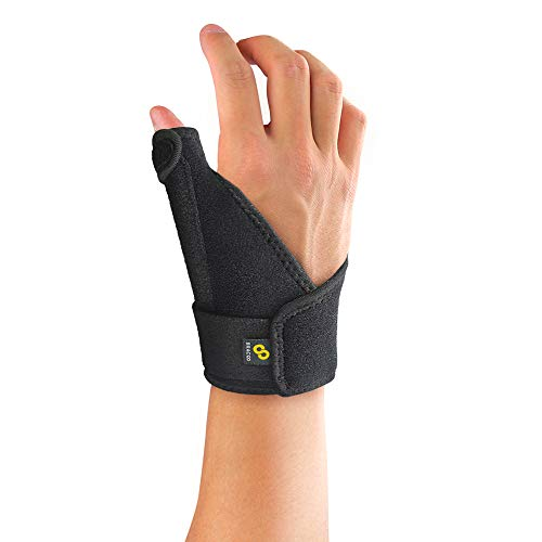 Bracoo TP30 Thumb & Wrist Brace 1.0, Dual-Spring Stabilizers for Universal Support – Skin-Friendly Breathable Neoprene – Fits Right & Left Hand