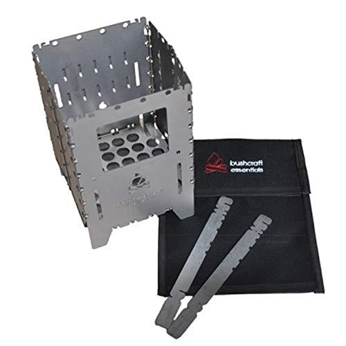 Bushcraft Essentials アウトドア ストーブ Bushbox/ブッシュボックス XL ステンレス製 専用ケースセット