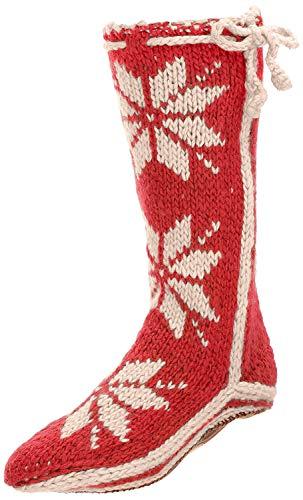 Woolrich Women's Chalet Sock Slipper, Amaryllis, Medium/(9-11) M US