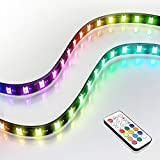 EZDIY-FAB アドレス指定可能なRGB LEDストリップ リモコン付き+ RGBスプリッターケーブル, マグネット付きRGB LEDストリップ, PCコンピューターケース用(ASUS Aura Sync およびMSI Mystic Light Syncに対応)-2パック40CM