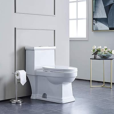 Swiss Madison Well Made Forever SM-1T113 Voltaire One Piece Elongated Toilet Dual Flush 0.8/1.28 GPF, White