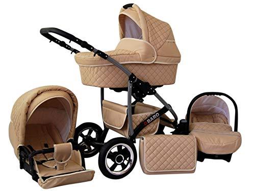 Poussette Combinée Trio landau 2en1 3en1 Isofix siège Auto Q-Step by SaintBaby crème 2en1 sans siège bébé