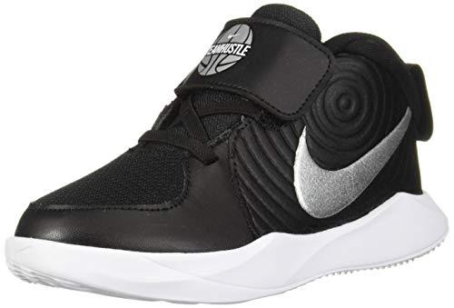Nike Jungen Unisex Kinder Team Hustle D 9 (td) Basketballschuhe, Mehrfarbig (Black/Metallic Silver/Wolf Grey/White 000), 25 EU
