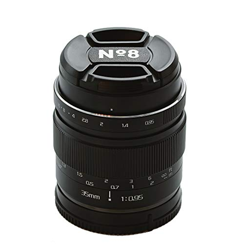 No8 35 mm f095 Lente Manual, Compatible con Montura Fuji X, Extremadamente Brillante, excelente Bokeh para Retratos, fotografía callejera y de Comida
