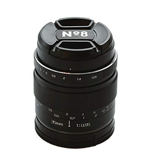 No8 35 mm f095 Lente Manual, Compatible con Montura Canon M, Extremadamente Brillante, excelente Bokeh para Retratos, fotografía callejera y de Comida