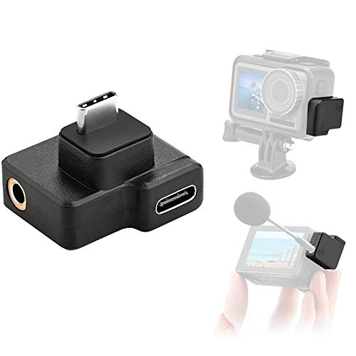 CYNOVA Osmo Action Dual 3.5mm/USB-C Mic Adapter- Made for DJI Osmo Action with Authorization