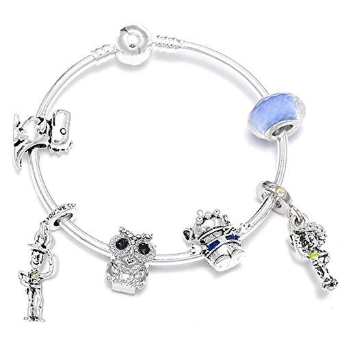 MZFRXZ Damesarmband, leuke uil zilveren bedelarmbanden & armbanden strass parels armbanden voor vrouwen kinderen