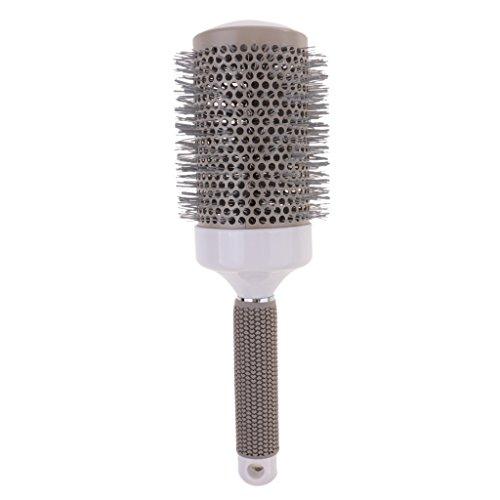 perfeclan Brosse à Cheveux En Céramique Ronde En Plastique Avec Baril De Nylon, Peigne De Curling, Différentes Tailles - 8.5x25.2 cm