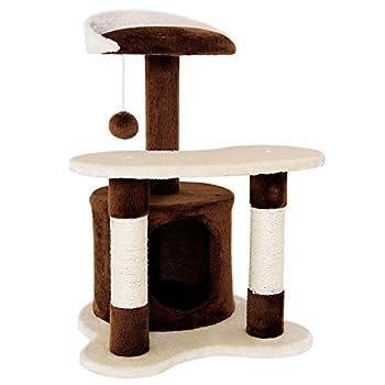 dibea Arbre à chat arbre à grimper griffoir pour chat hauteur 65 cm couleurs différentes