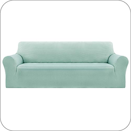 UMI Amazon Brand Funda Elastica para Sofa Ajustable 3 Plazas Verde Claro