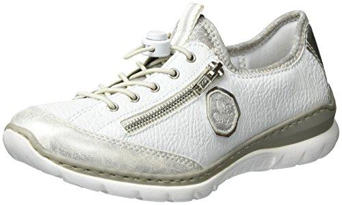 Rieker Rieker Damen L3263 Sneakers, Weiß (Ice/Weiss/Argento/silverflower / 80), 36 EU