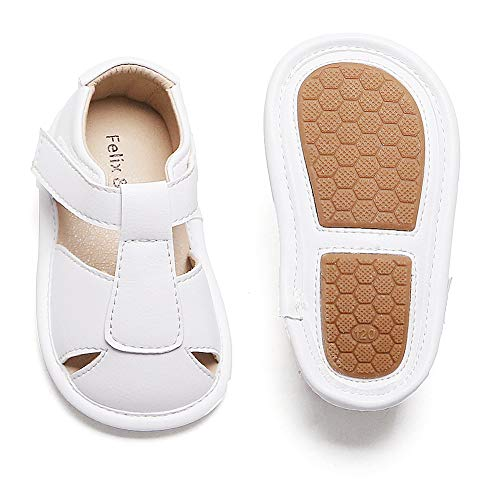 Infant Baby Girls Boys Sandals Soft Rubber Sole Leather Baby Walking Shoes(Infant/Toddler)